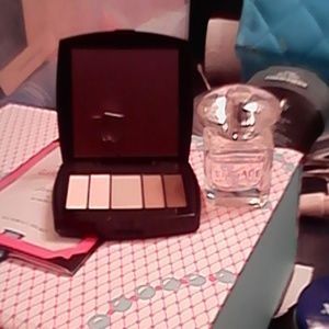 Lancome eye pallette and Versace bright crystal